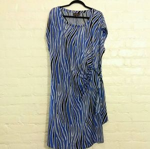 Dana Buchman Woman zebra stripe dress 3XL Plus